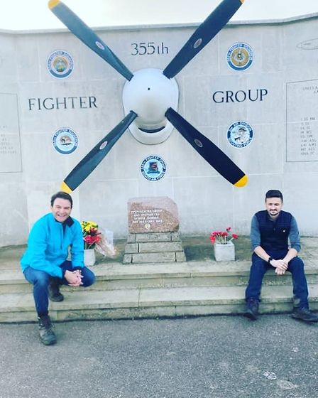 Declan Shilton, chief executive of Step Change Outsourcing, and event organiser Darren Yeend on the charity walk. Picture:...