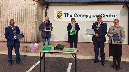 Cambridgeshire Community Services NHS Trust's charity, Dreamdrops, donated nine iPads and a laptop to the Huntingdonshire...