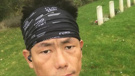 A Corporal has raised money for ABF The Soldiers' Charity. Picture: Khadga Labung