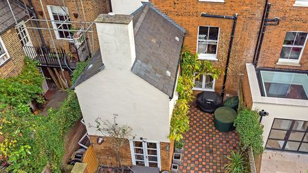 The rear of the Alma Road property as seen from above. Picture: Cassidy & Tate