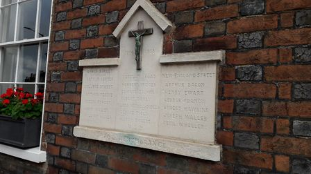A street memorial to remember those who died in St Albans. Picture: Supplied