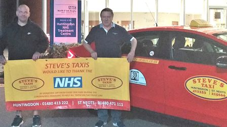 Huntingdon's Steve Taxis raise more than £10,000 for Hinchingbrooke Hospital. Picture: TAXI