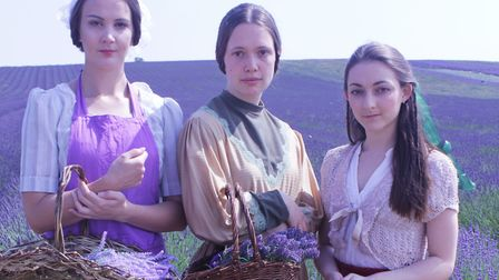 The cast from the original production of Smell of Lavender in 2018 - left to right: Bethany Filler, Claire Bowman and...