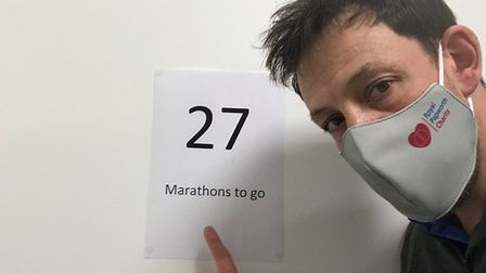 Andrew Forster, material management assistant at the Trust, is walking the distance of 30 marathons to raise money for the...