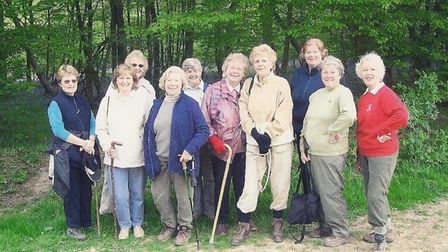 Members of the Inner Wheel Club of Stevenage enjoy friendship as well as service, pictured here on a social walk. Picture:...