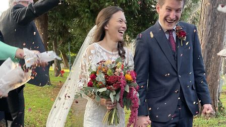 They brought their Wheathampstead wedding forward to avoid lockdown. Picture: Tessa Clark