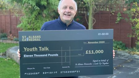 The Cathedral firework display raised a record amount of money for charities including Youth Talk. David Barker is...