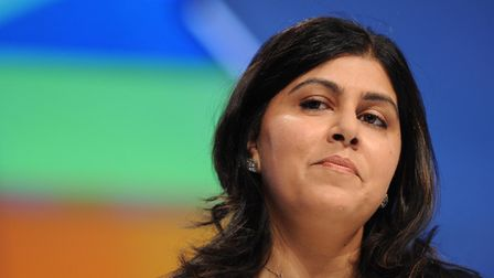 Baroness Warsi at Tory Party conference. Photograph: Stefan Rousseau/PA.