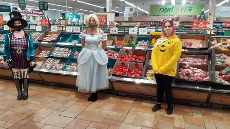 Colleagues at St Albans Morrisons dressed up with Leon to raise funds for Children in Need on Friday (November 13).
