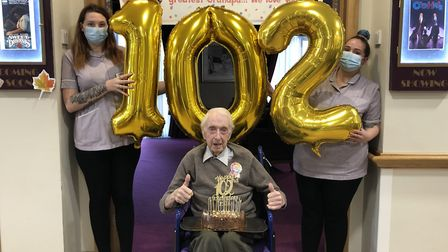 William (Bill) Stevens, from Care UK's Field Lodge has turned 102 years old. PICTURE: Nicole Daybell