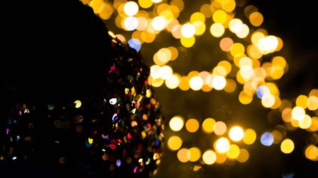 There was a very different Christmas lights switch-on in Hitchin this year. Picture: Rob Weavers