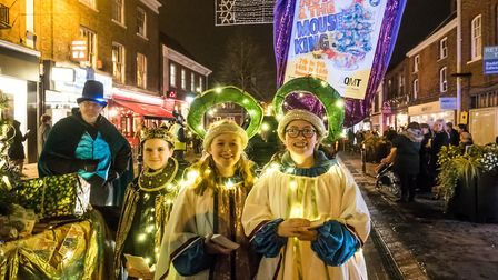 Queen Mother Theatre in Hitchin's Christmas Parade (2018). Picture: Gary Walker