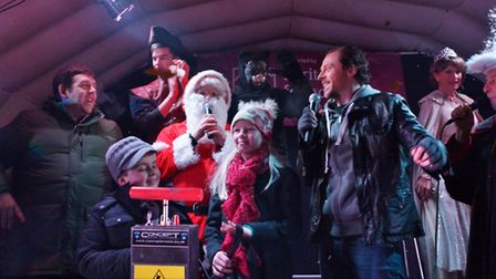 Letchworth Christmas light switch-on