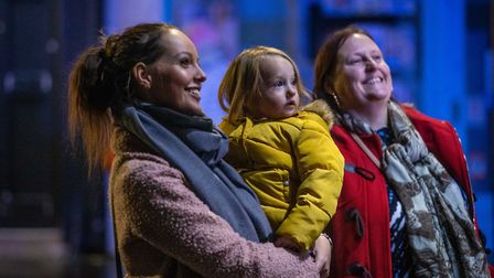 Hundreds of families embraced the festivities at Letchworth's Christmas lights switch-on last year. Picture: Jim Steele