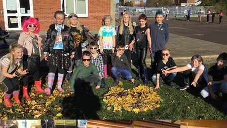 Children and staff from Middlefield Primary Academy dressed up as rock stars and had times tables battles between classes PI...