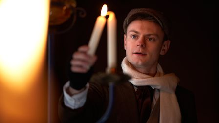 Simon Stallard as Bob Cratchit in This Is My Theatre's production of A Christmas Carol. Picture: Patch Harvey