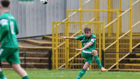Hitchin Town will restart after the government's engorced suspension with an FA Trophy date. Picture: DANNY LOO