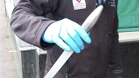 A knife found during the targeted week of action. Picture: ESSEX POLICE