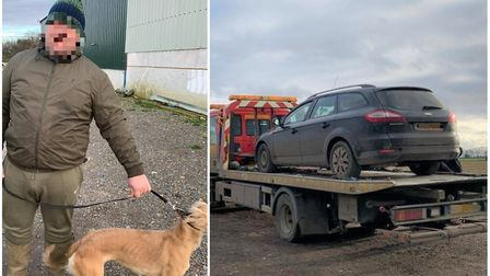Hare coursers caught in Hunts villages. Picture: CAMBS POLICE