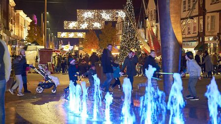 Letchworth Christmas lights in previous years have been a real crowd-pleaser. Photo: BLP Photography Ltd