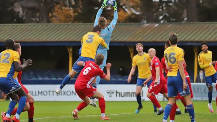 St Albans City drew 0-0 against Hungerford Town in National League South. Picture: PETER SHORT