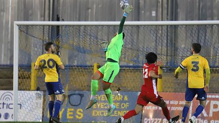 Michael Johnson in action for St Albans City against Hungerford Town. Picture: PETER SHORT