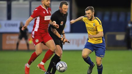 Luke Warner-Eley in action for St Albans City against Hungerford Town. Picture: PETER SHORT