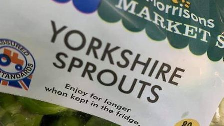Yorkshire Sprouts are being Morrisons this year instead of Brussels Sprouts. Photograph: Twitter.