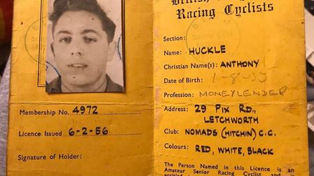 Tony Huckle was a successful member of Hitchin Nomads in the 1950s and 1960s. Picture: Rebecca Huckle