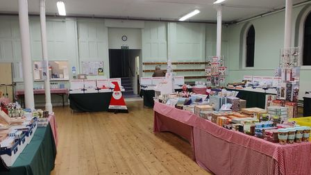 The Cards for Causes shop at Dagnall Street Baptist Church.