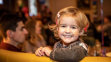 Hitchin's Lily May Betts, 4, was first diagnosed with a brain tumour in November 2017. Picture: Kelli Hooks