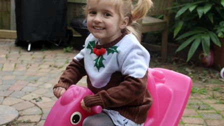 Lily Betts, 4, will celebrate her first Chemo-free Christmas in 2020. Picture: Kelli Hooks