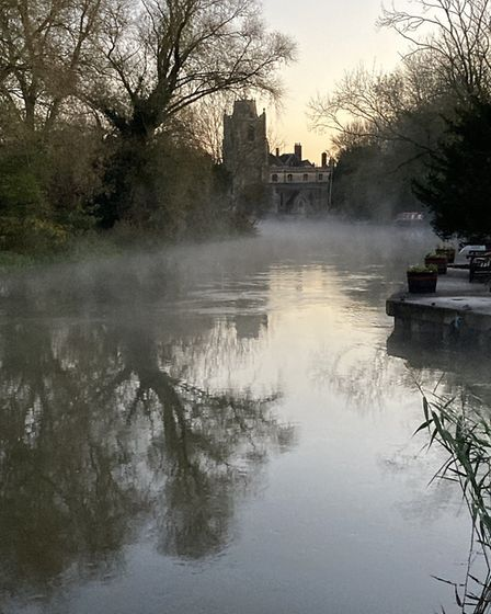 Amanda Lonsdale took this early morning photo of St Jame's Church at Hemingford Grey.
