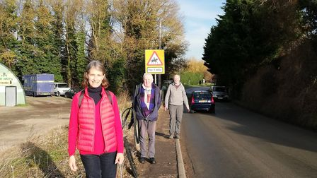 Meldreth councillors and residents Susan van de Ven and Roger James and Meldbourn resident Geoffrey Grimmet. Picture...