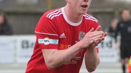 Defender Dean Grogan (pictured) has left Wisbech Town to re-join step six club Lakenheath. Picture: ERIN LARHAM