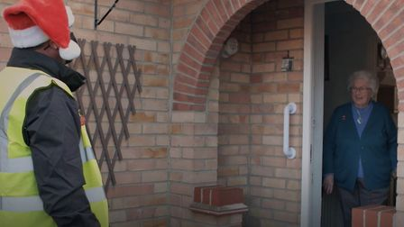 Wisbech Asda delivery driver Geoff Norris will wear a Happy To Chat badge in a bid to tackle loneliness over the festive...