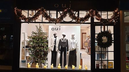 Oui's festive display. Picture: Oui of Harpenden