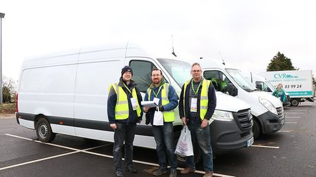 Volunteers taking part in Arthur Rank Hospice Charity's Christmas tree recycling scheme last year. Picture: Arthur Rank...