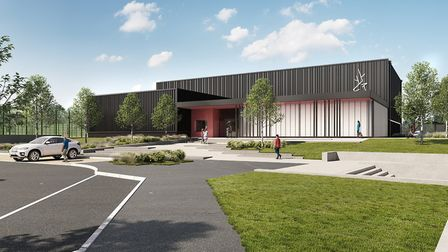 An artist's impression of the new sports facility at North Herts College, in Hitchin. Picture: NHC