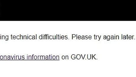 The Gov.Uk website that allows you to check which tier your local authority is in crashed. Picture: Archant