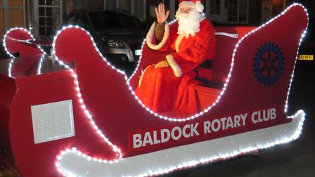 Father Christmas and Baldock Rotary Club will be making the rounds in Baldock starting Monday. Picture: Baldock Rotary Club