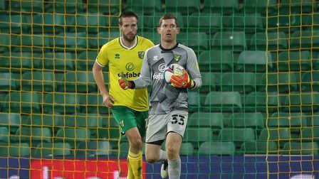 Michael McGovern of Norwich in action during the Sky Bet Championship match at Carrow Road, Norwich