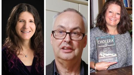 Literary legends Leigh Russell, Ion Mills and Amanda Thomas will form the judging panel. Picture: Supplied by Ron...