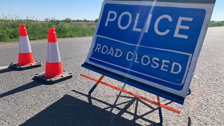 Parts of the A10 has been shut in both directions following a serious collision between a pedestrian and a van. Picture...