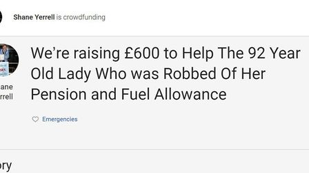 A JustGiving page has been set up to raise money for a 92-year-old woman who had her purse stolen. Picture: Shane Yerrell