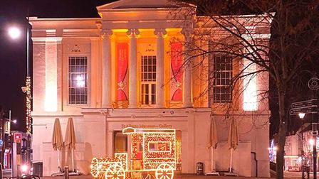 Soroptimist International St Albans and District teamed up with St Albans Musems to illuminate the building orange for Action...