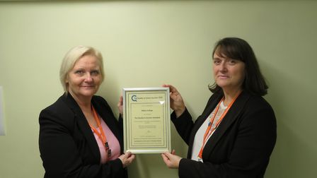 Ramsey College has been given an award for their careers programme PICTURE: Abbey College