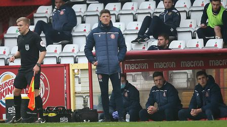 Stevenage manager Alex Revell during Stevenage vs Hull City, Emirates FA Cup Football at the Lamex Stadium on 29th...