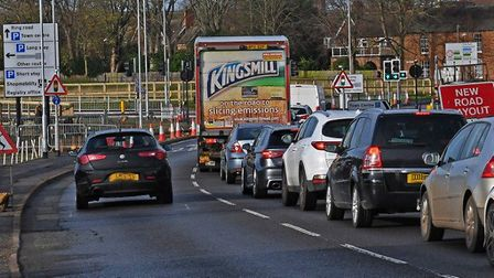 What roadworks are in place around Huntingdon this week.