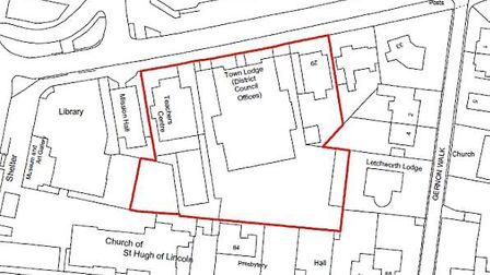 The five buildings on Gernon Road set for redevelopment by Croudace Homes. Picture: Promap